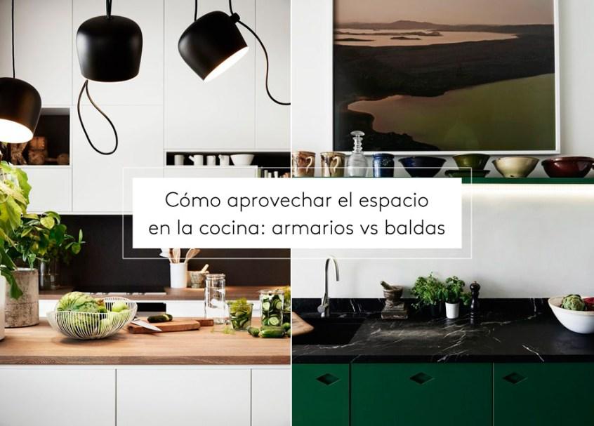 Cómo aprovechar el espacio en la cocina: armarios vs baldas ...