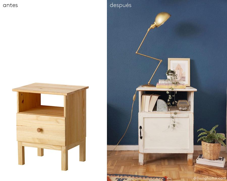 Ikea hack: mesilla de noche rústica · Decoración online para tu casa ...
