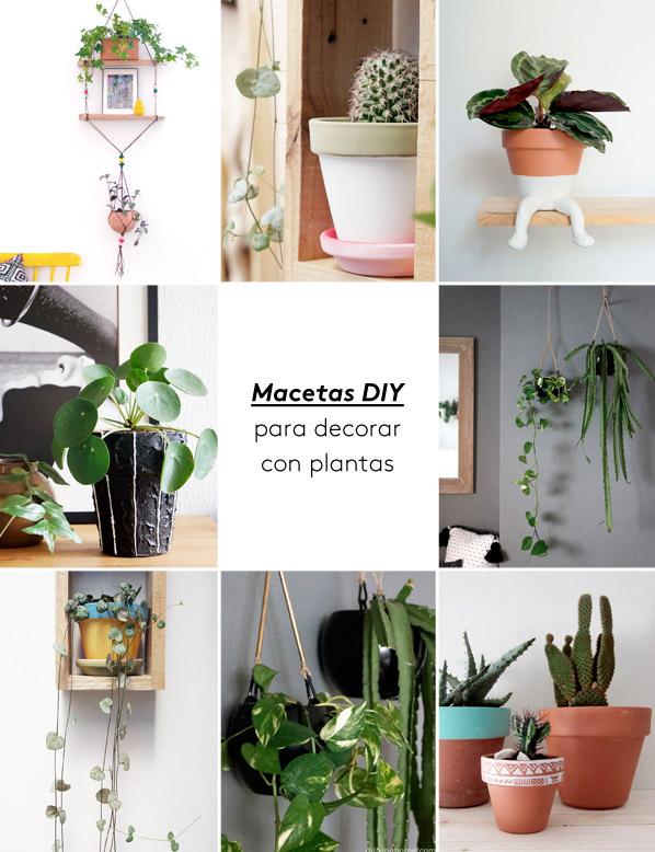 Macetas diy para decorar con plantas