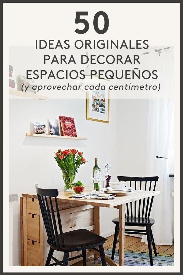 ideas de diseño de dormitorio para espacios pequeños MEGAPOST 50 Ideas Geniales Para Decorar Un Piso Pequeo