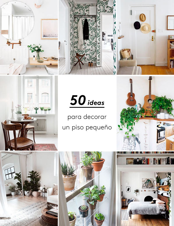 Megapost 50 ideas geniales para decorar un piso peque o for Como decorar un piso de 90 metros cuadrados