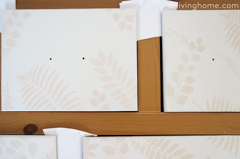 Antes y después de una cómoda decorada con stencil