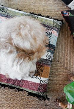Diy cojín con alfombra