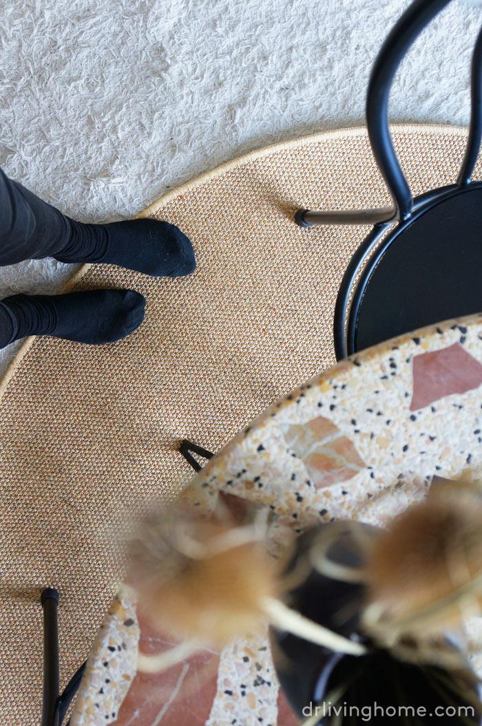 Cómo combinar alfombras de fibras naturales