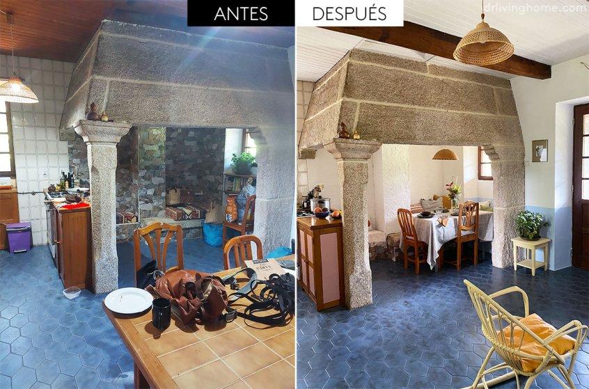 Antes y después de una cocina tradicional