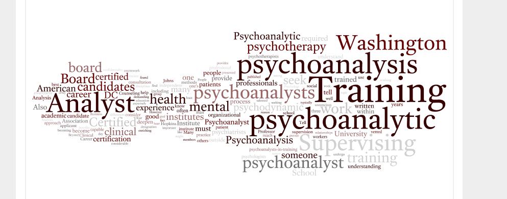 Training Analyst Washington Dc Psychologist Washington Dc