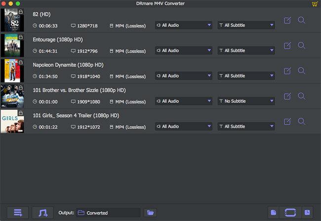 DRmare M4V Converter for Mac 2.1.5 破解版 - DRM破解器/M4V转换器