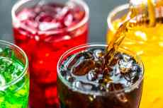 glasses of soda