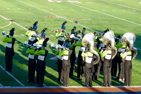 Lower brass section of the marching band