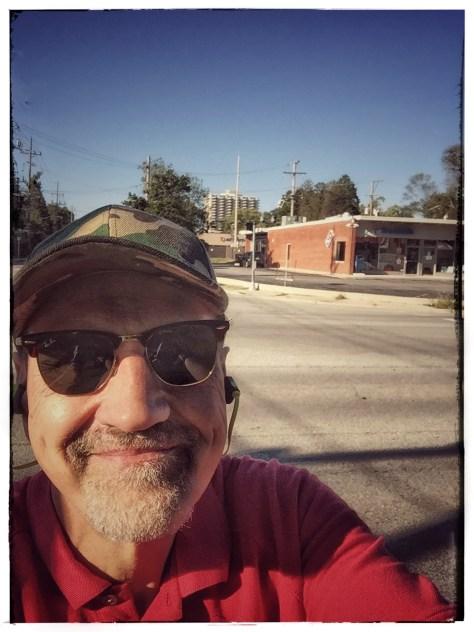Taking a selfie at my turnaround.