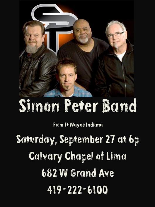 simon peter concert promo flyer