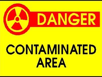 Danger Contaminated Area Sign