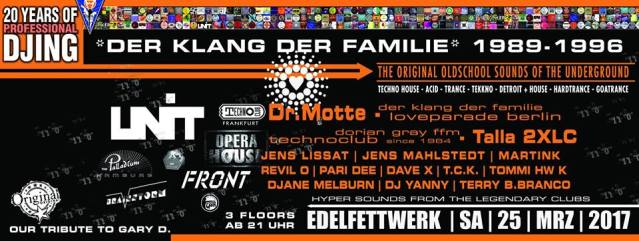 Dr. Motte DJ Set @ Edelfettwerk Hamburg This Saturday