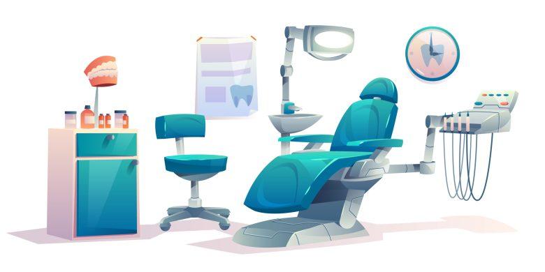 Dentist office dental cabinet interior stomatology