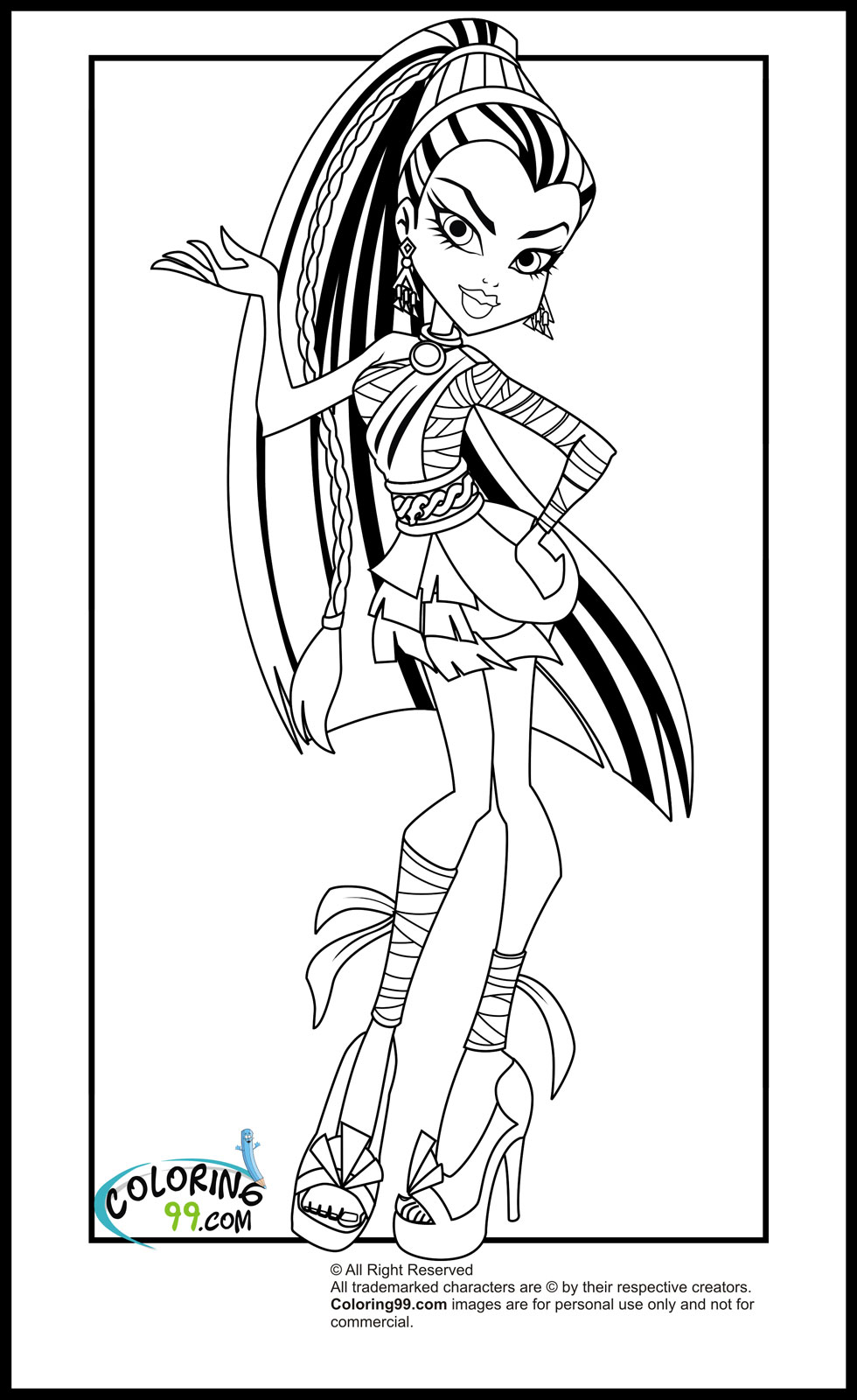 monster high coloring pages 2016 dr odd