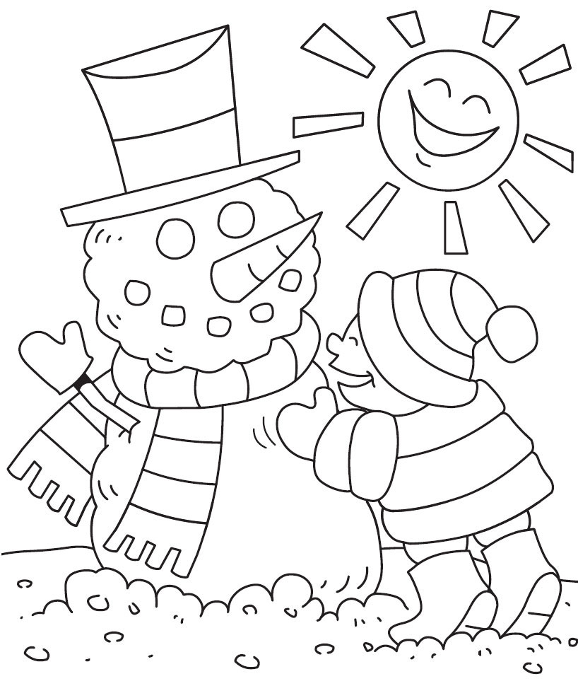 winter coloring pages 2016