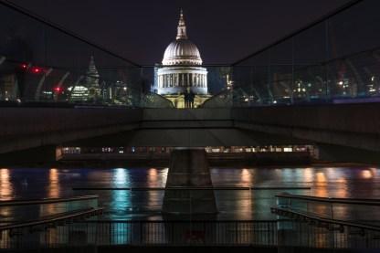 London 2017, Millennium Bridge und St. Pauls Cathedrale