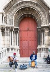 Musiker vor Basilika Sacré-Cœur