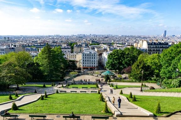 Montmatre, Blick auf Paris