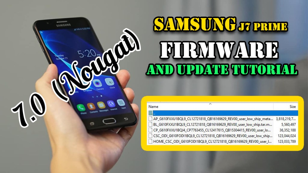 Samsung J7 Prime Firmware And Update Tutorial