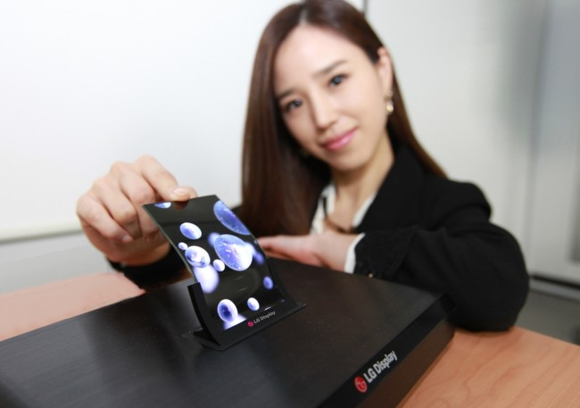 lg flexible display oled