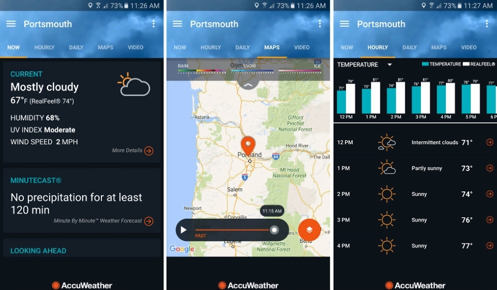 AccuWeather App Updated With Dark Theme  Future Radar and Graphs     AccuWeather App Updated With Dark Theme  Future Radar and Graphs     Droid  Life