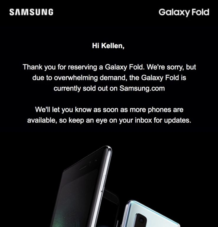 Galaxy Fold Soldout