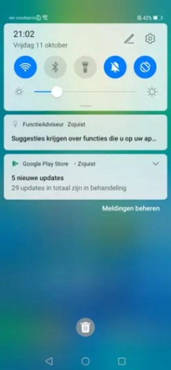 Huawei Mate 20 Pro Android 10 notifications