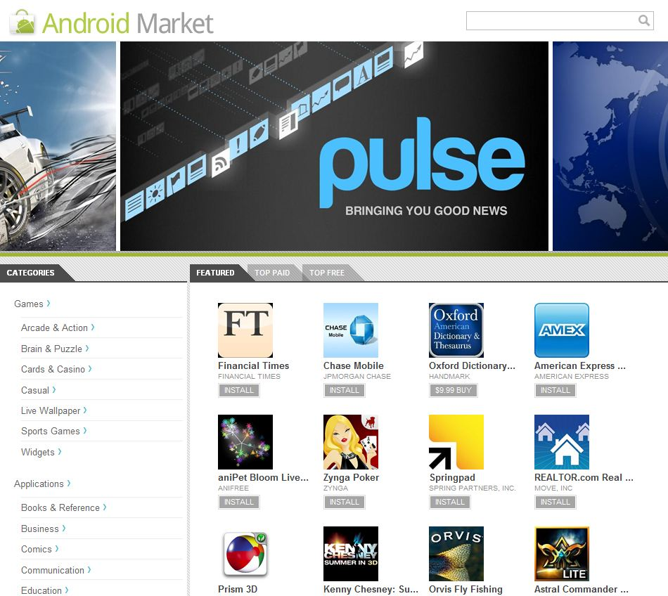 Android Market now available on the web (updated)