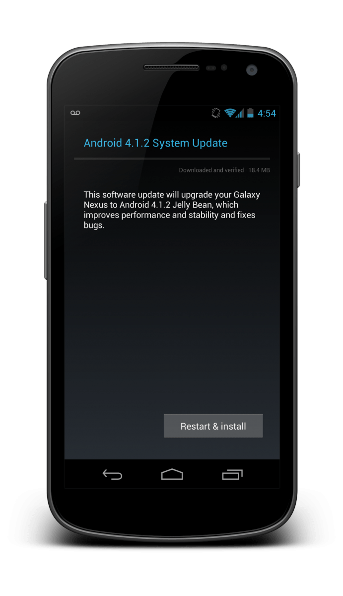 Android 4.1.2 update now rolling out to the Google Play Galaxy Nexus
