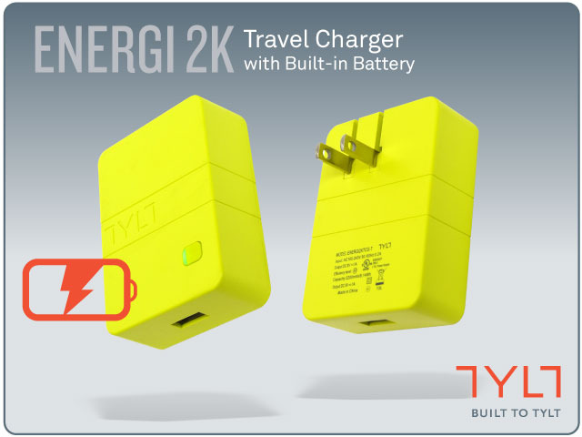 TYLT's Kickstarter Energi 2K (wall charger/battery combo) campaign ends tomorrow