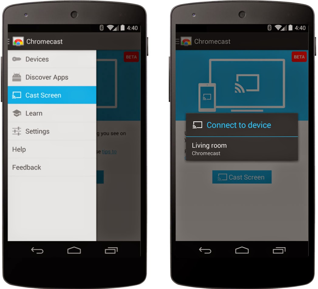 Screen mirroring now available for Android devices via Chromecast