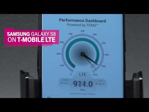 T-Mobile shows off gigabit LTE on the Galaxy S8