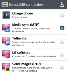 MTP mode Android