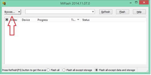Download / install mi flash tool