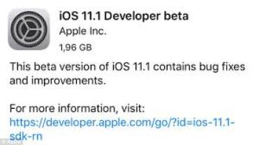 ios 11.1 beta 2 ipsw