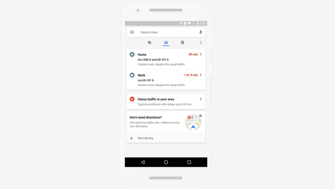 Google Maps update brings real-time travel information