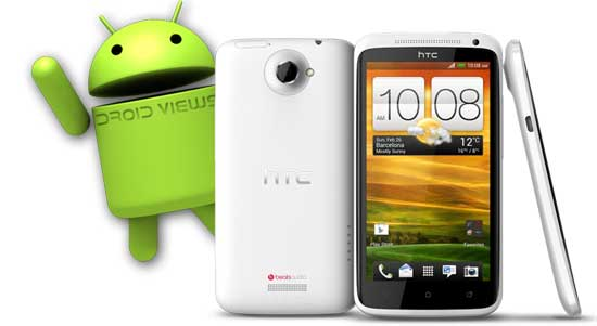 Beste benutzerdefinierte ROMs - Weißes HTC One X mit Droid - Droid Views