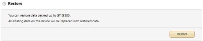 Samsung Kies Gerätedaten wiederherstellen