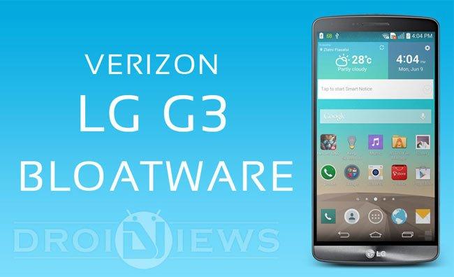 Bloatware auf Verizon LG G3