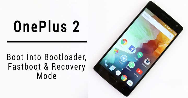 Starten Sie OnePlus 2 im Wiederherstellungsmodus
