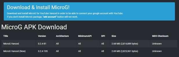 microG APK download