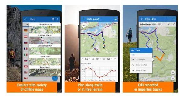 Locus Maps Outdoor Travel app