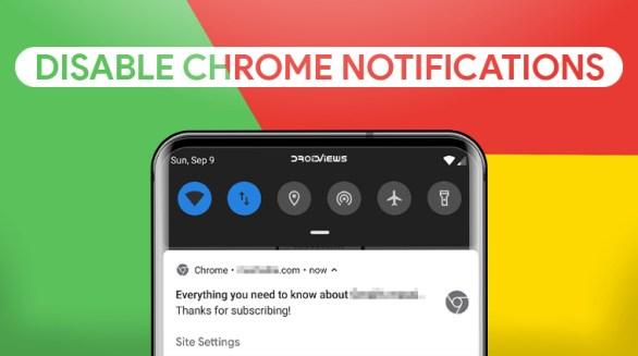 Chrome notification popups