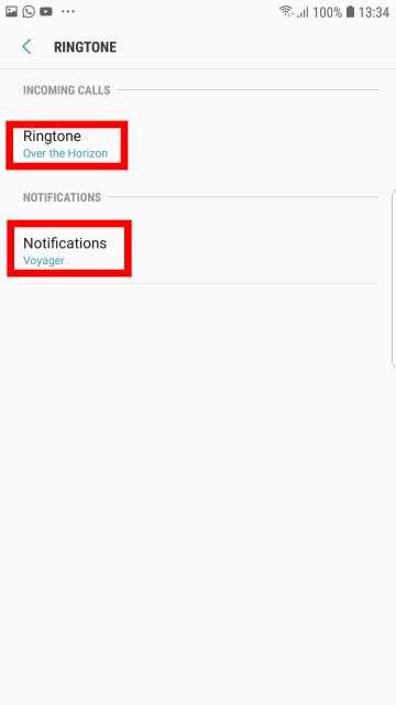 change ringtones and notification tone