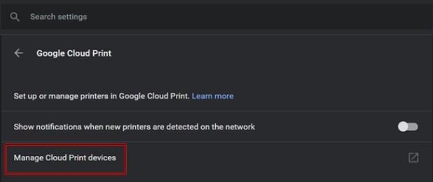Manage Cloud Print
