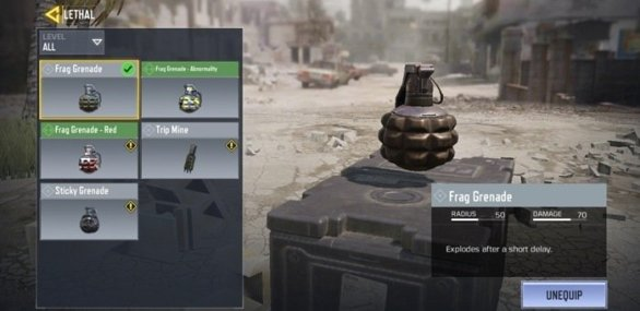 Throwables options in mobile cod