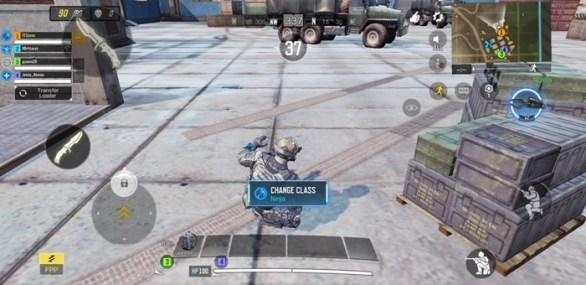 Sliding mobile character COD