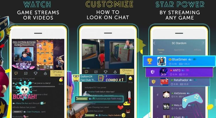 StreamCraft Android application live streaming