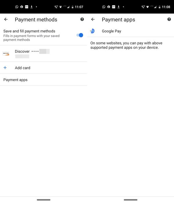 Zahlungen für das automatische Ausfüllen von Chrom